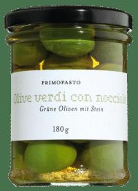 PRIMOPASTO - Grüne Oliven mit Stein - aus Sizilien