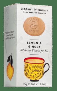 ARTISAN BISCUITS - Butter Buscuits Ginger & Lemon - Butterkekse zum Tee mit Ingwer und Zitrone