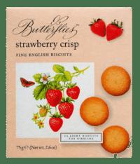 ARTISAN BISCUITS - Butterflies Strawberry Crisp - Feingebäck mit Erdbeeren